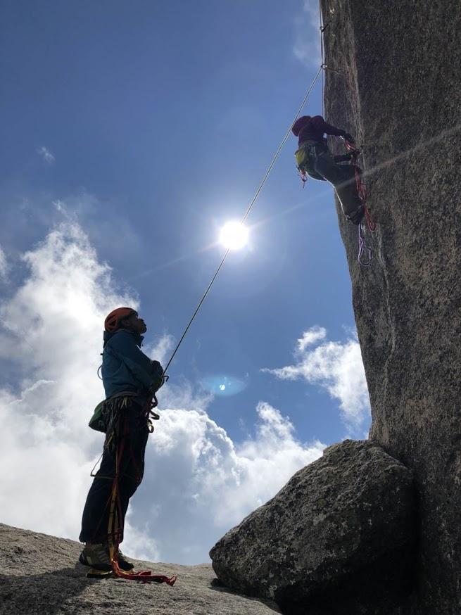 10月会山行 十一面末端壁、大ヤスリ岩
