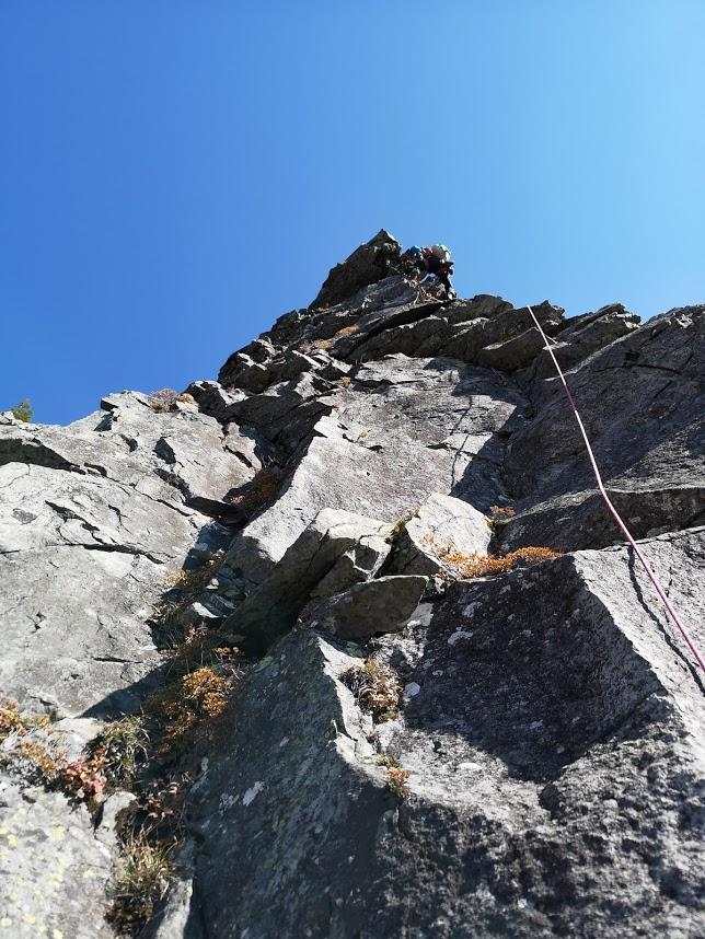 乾徳山衝立岩中央岩稜