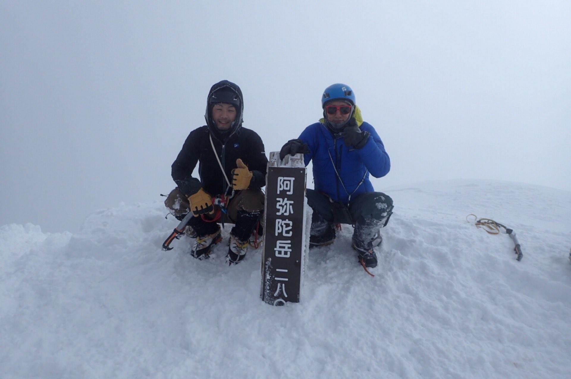 冬合宿 八ヶ岳 中山尾根 阿弥陀岳北西稜