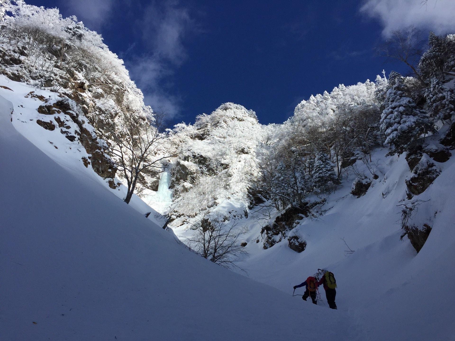 2月会山行 大同心沢大滝アイスクライミング